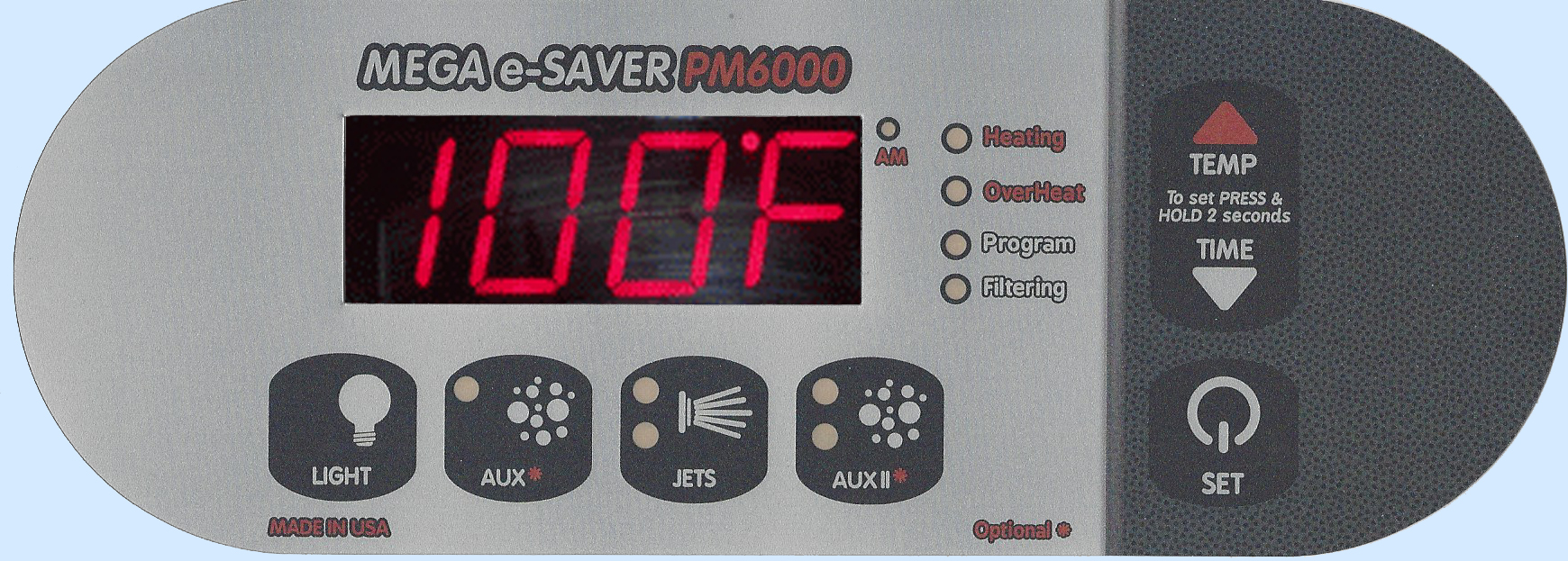 pm6000 digital spa side control